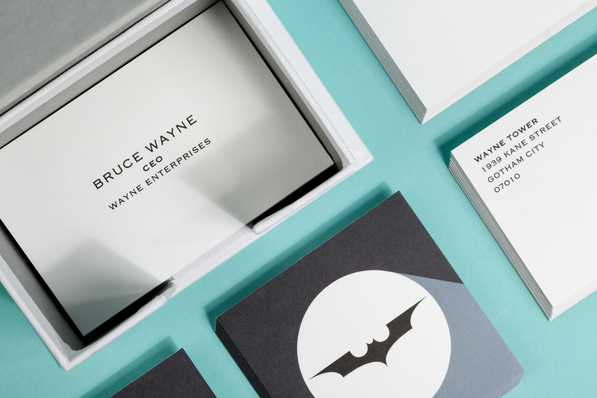 third city — not bird or plane but square business card
