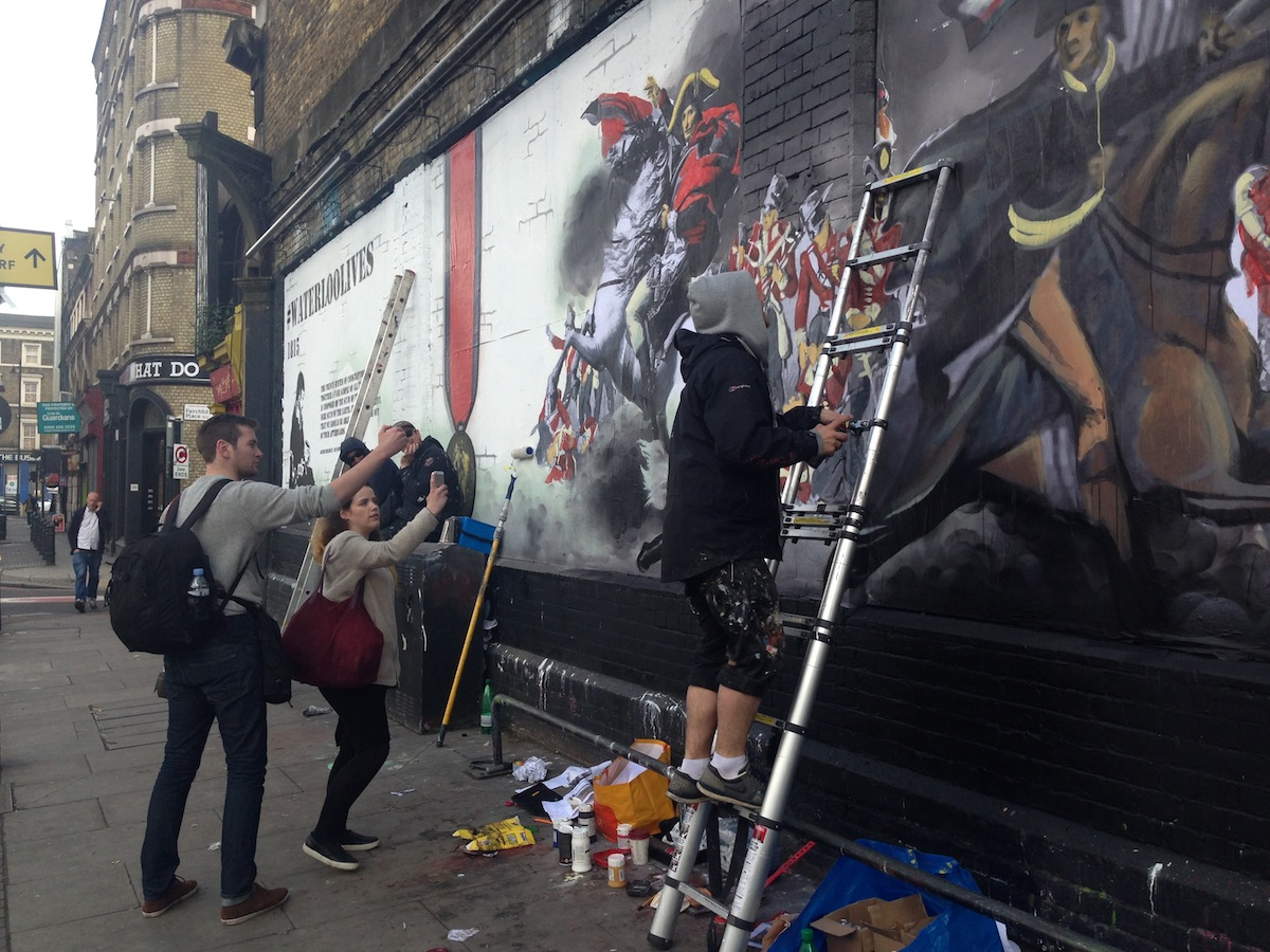 Street art celebrates Battle of Waterloo image 2